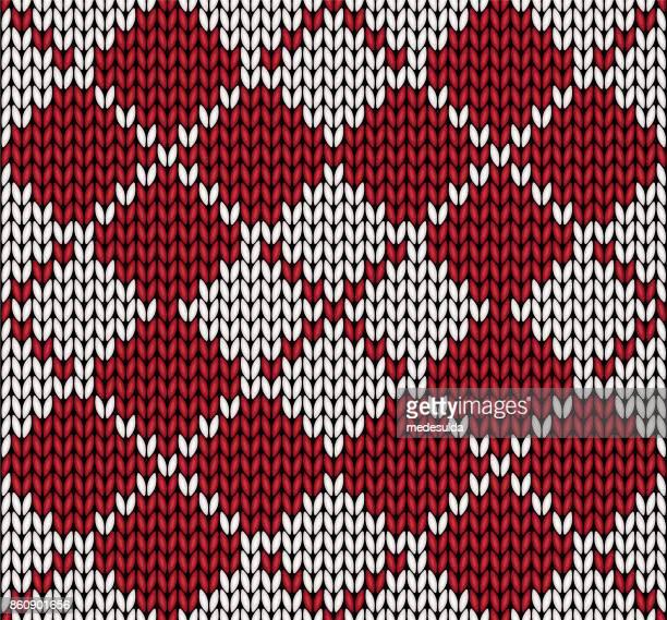 knitting pattern - scottish tweed stock illustrations, clip art, cartoons, & icons