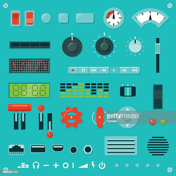 knobs, buttons, levers, etc. - turning stock illustrations, clip art, cartoons, & icons