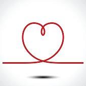 Knot heart shape vector icon icon design