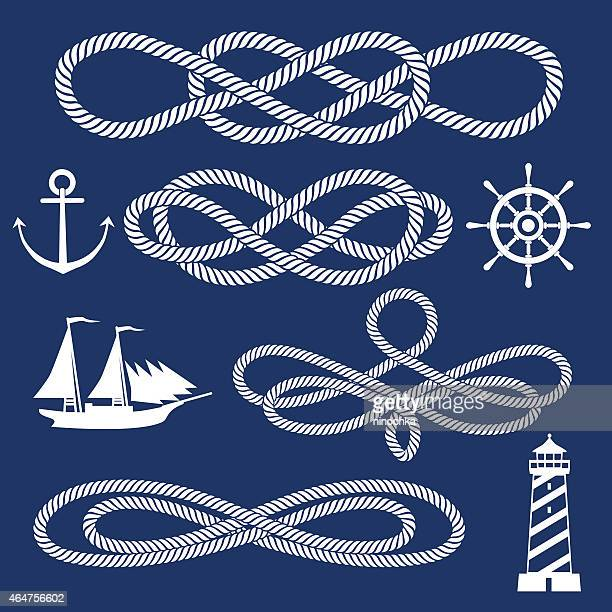 knot ornaments - rope stock illustrations