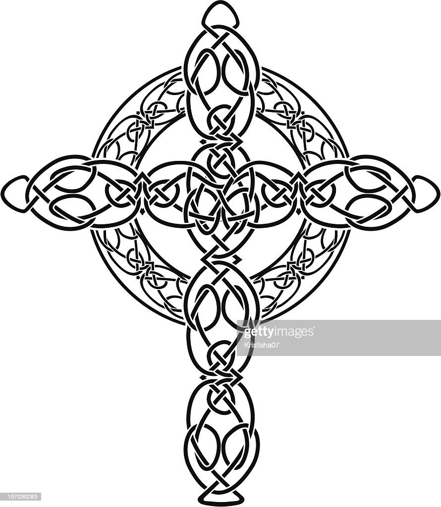 Knotted celtic cross stenci