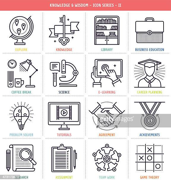 Knowledge and Wisdom Icons Set