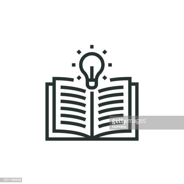 illustrations, cliparts, dessins animés et icônes de icône ligne de connaissances - literature