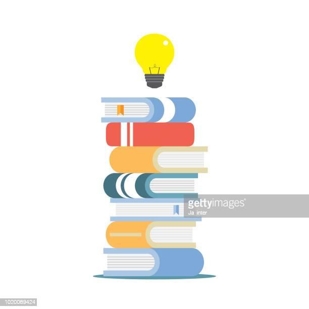 ilustrações, clipart, desenhos animados e ícones de conhecimento - livraria