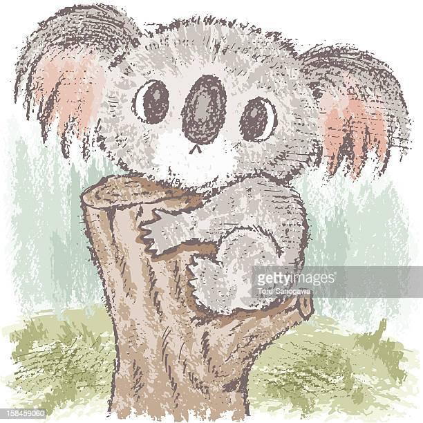 illustrations, cliparts, dessins animés et icônes de koala sur tree - koala