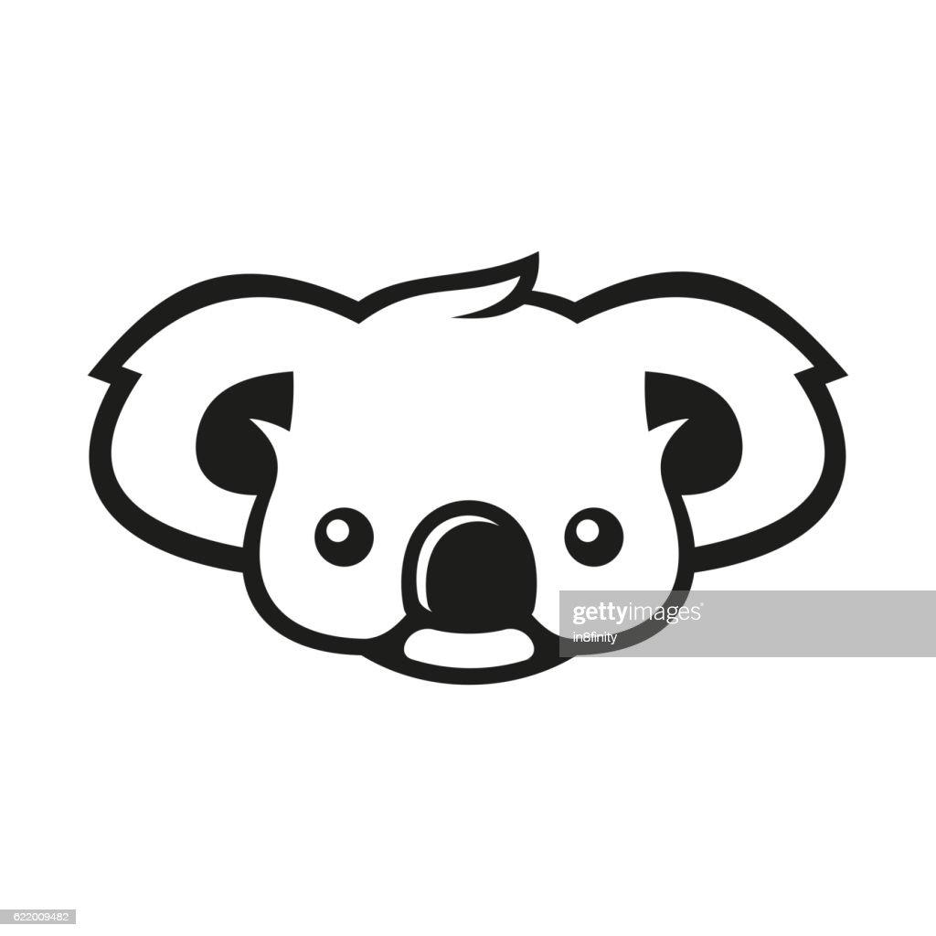 Koala Bear Sign Logo. Vector