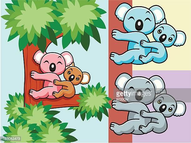 illustrations, cliparts, dessins animés et icônes de koala dessin animé - koala