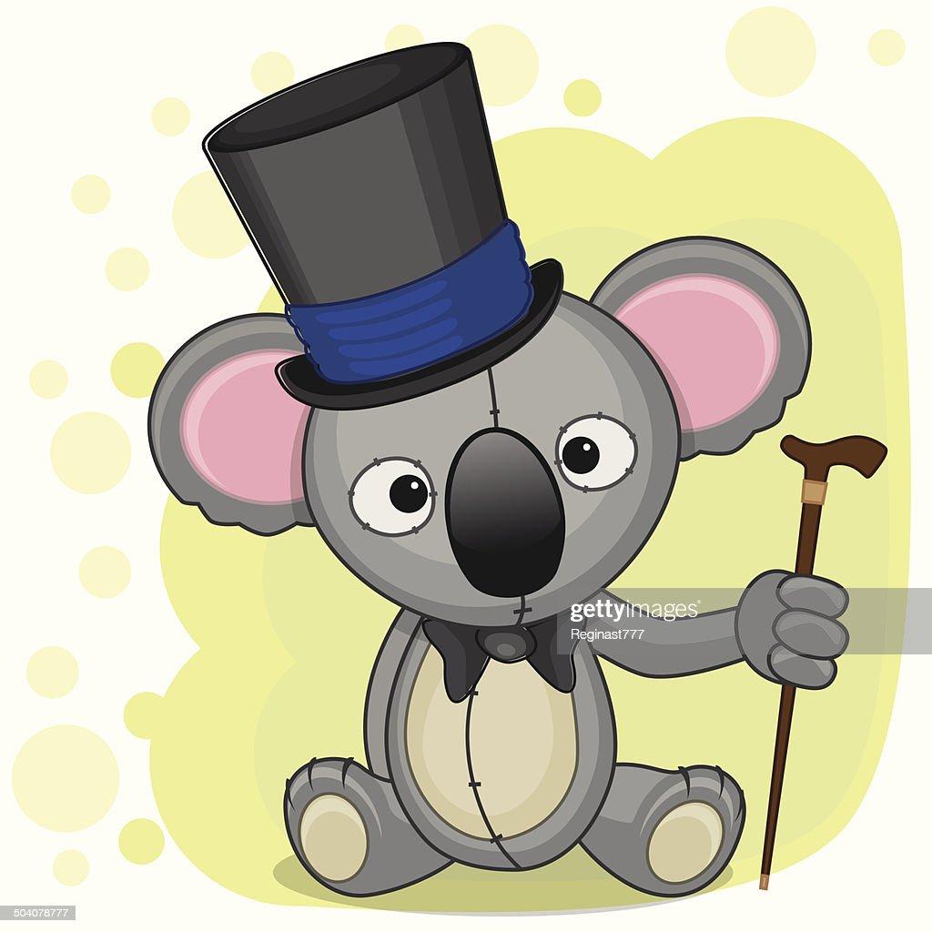 Koala in hat