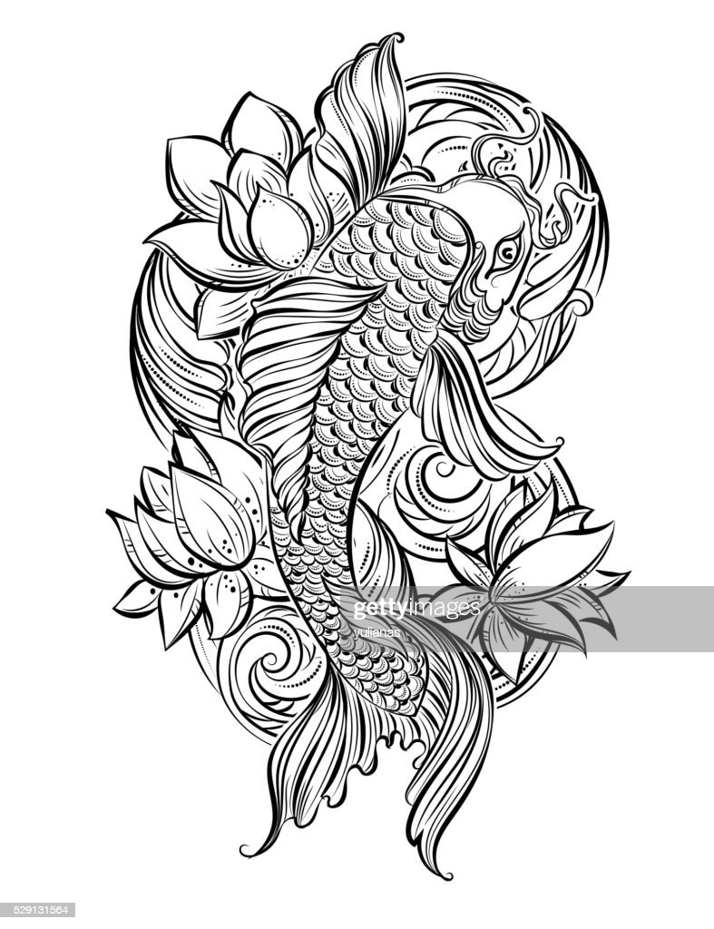 koi carp tatoo 1