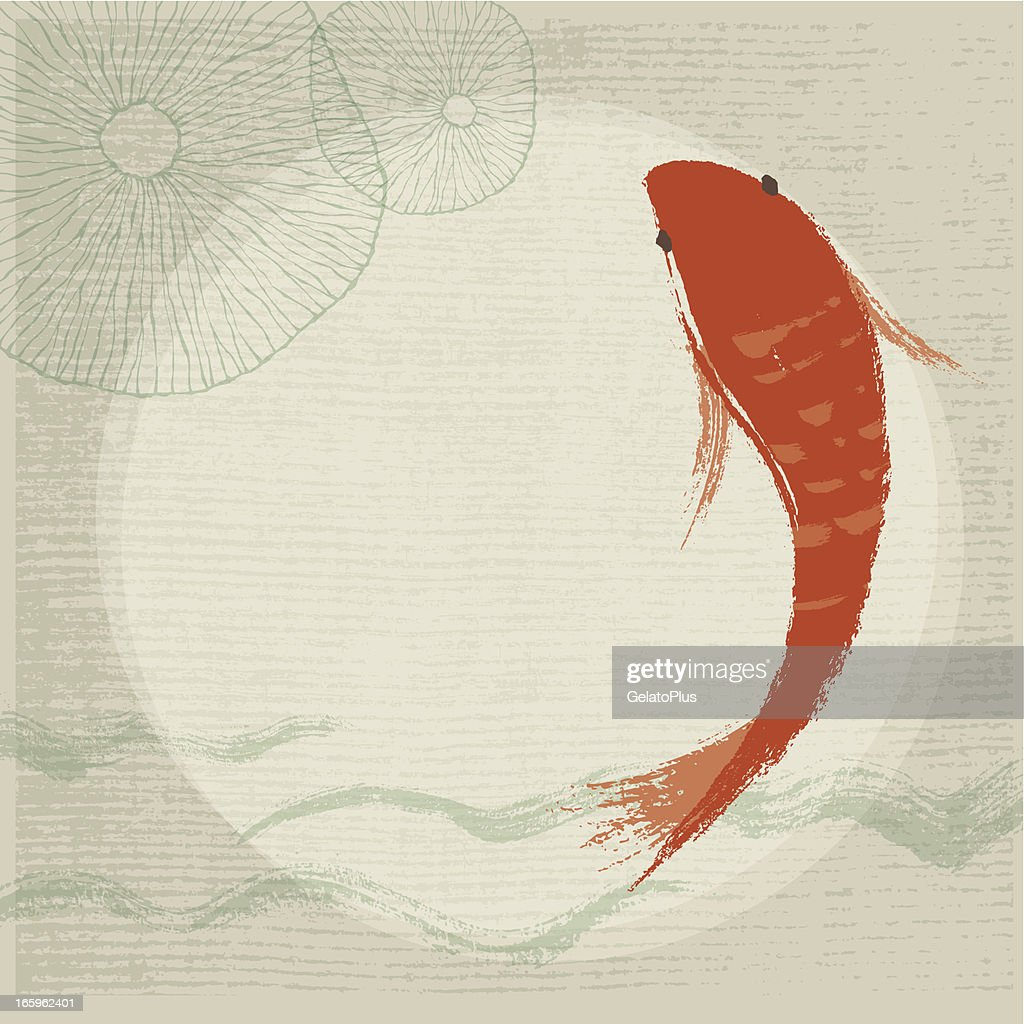 Koi Fish & Waterlily Background