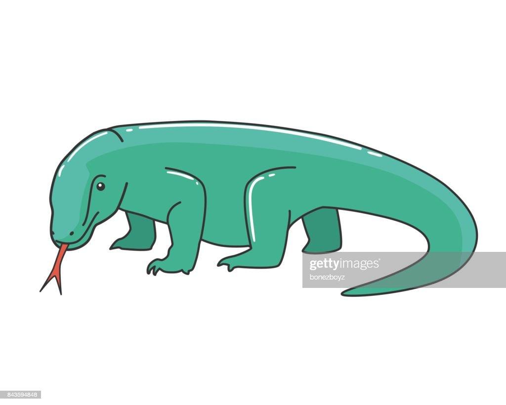 Komodo Dragon Vector Illustration