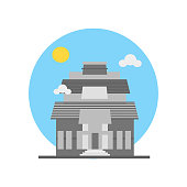 Konark sun temple icon vector sign and symbol isolated on white background, Konark sun temple symbol concept