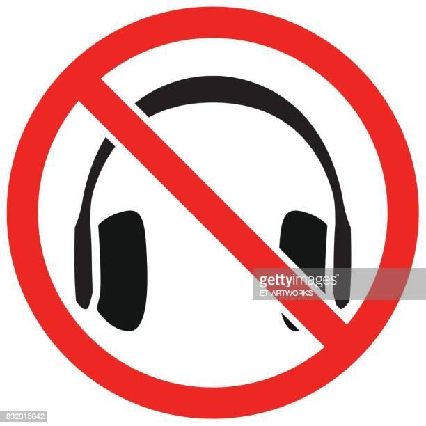 Kopfhörer Verbot