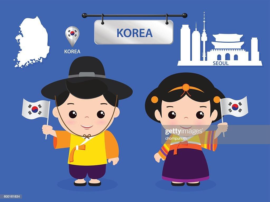 korea children character