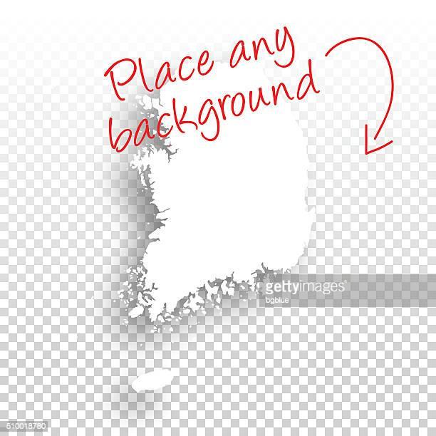 Südkorea Karte für design-Vorlage Hintergrund