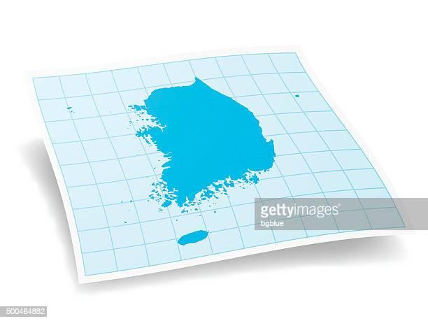 Südkorea Karte, isoliert auf weißem Hintergrund