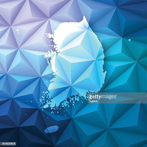 Südkorea auf abstrakte Polygonal Hintergrund-Low Poly, geometrische