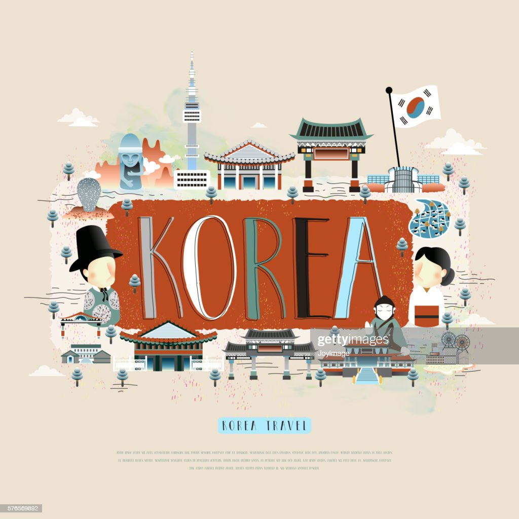 Korea travel poster