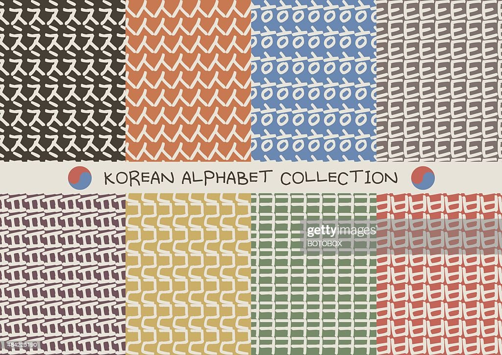 Korean alphabet pattern set
