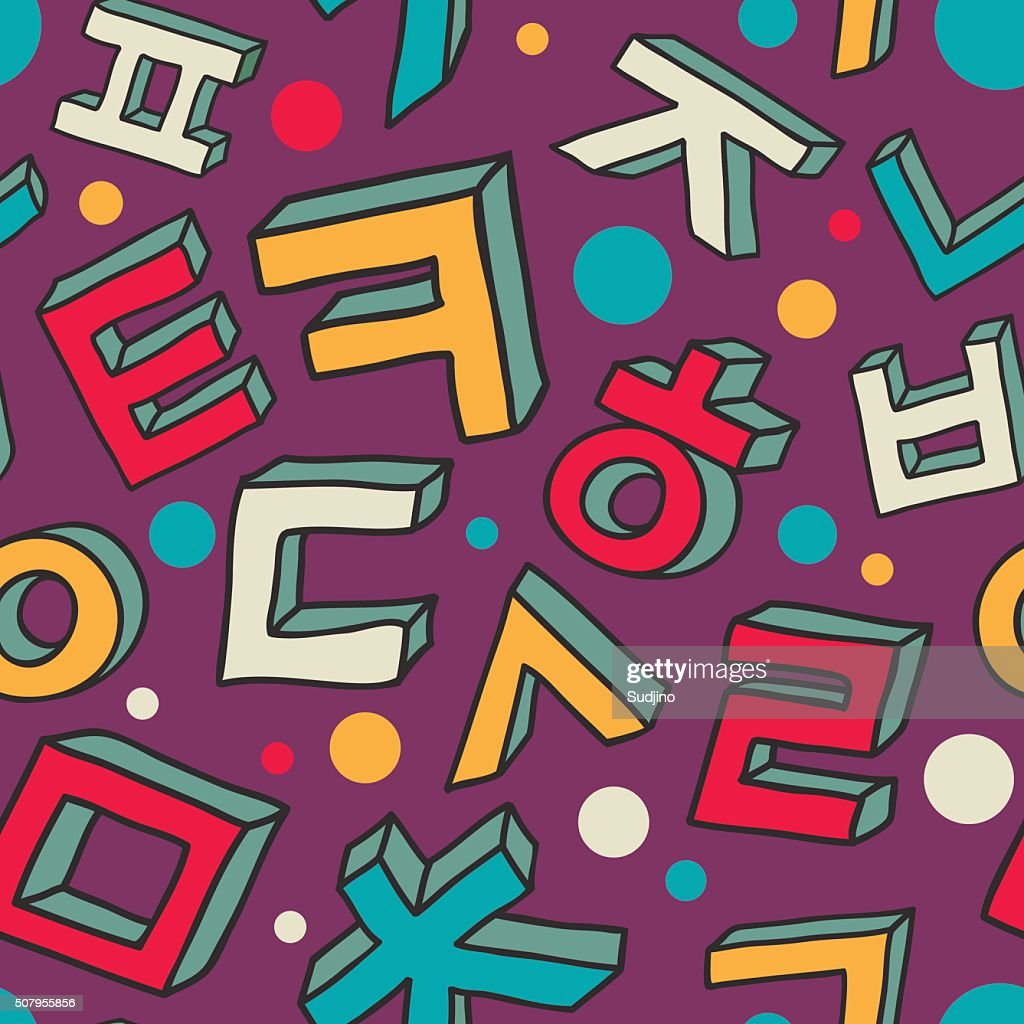 Korean alphabet pattern