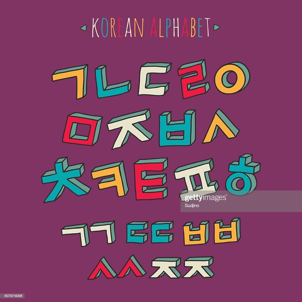Korean alphabet set