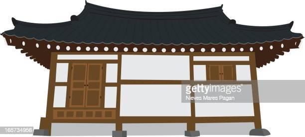ilustraciones, imágenes clip art, dibujos animados e iconos de stock de templo de corea - cultura coreana