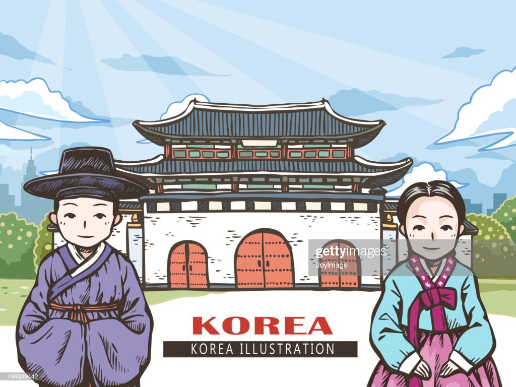 Korean travel concept