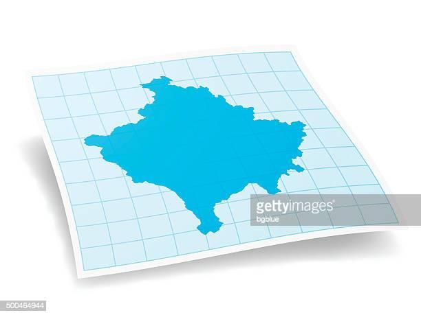 Kosovo Map isolated on white Background