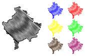 Kosovo map vector