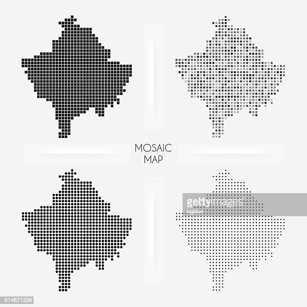 Kosovo maps - Mosaic squarred and dotted