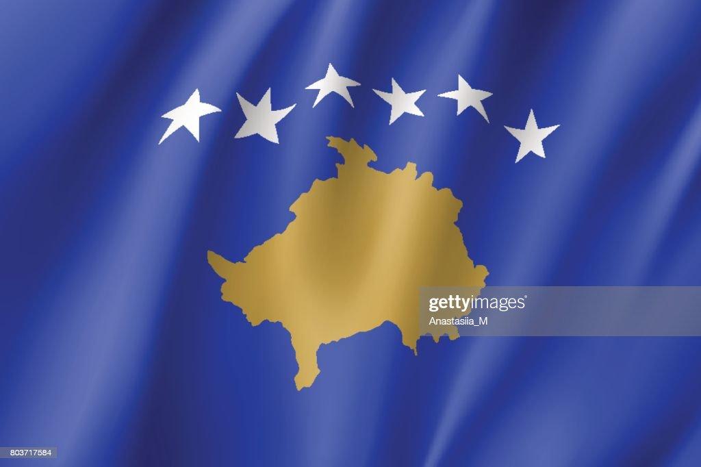 Kosovo national flag vector illustration