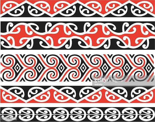 Kowhaiwhai Designs In Color