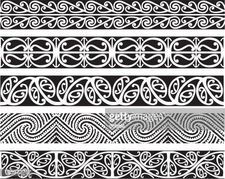 Kowhaiwhai Designs Vector Art Getty Images