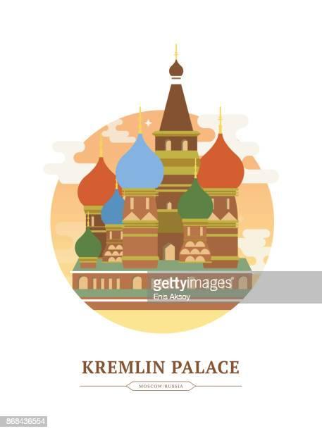 ilustrações, clipart, desenhos animados e ícones de kremlin palace - moscou