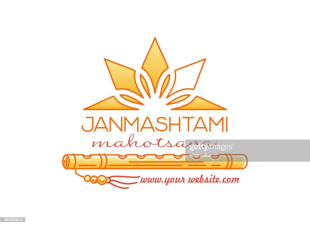 Krihna Janmashtami Mahotsav. Logo design