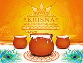 Krishna Janmashtami Mahotsav. Hindu Indian fest