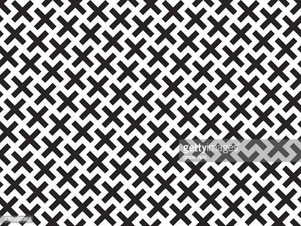 kross seamless pattern - cross shape stock illustrations, clip art, cartoons, & icons