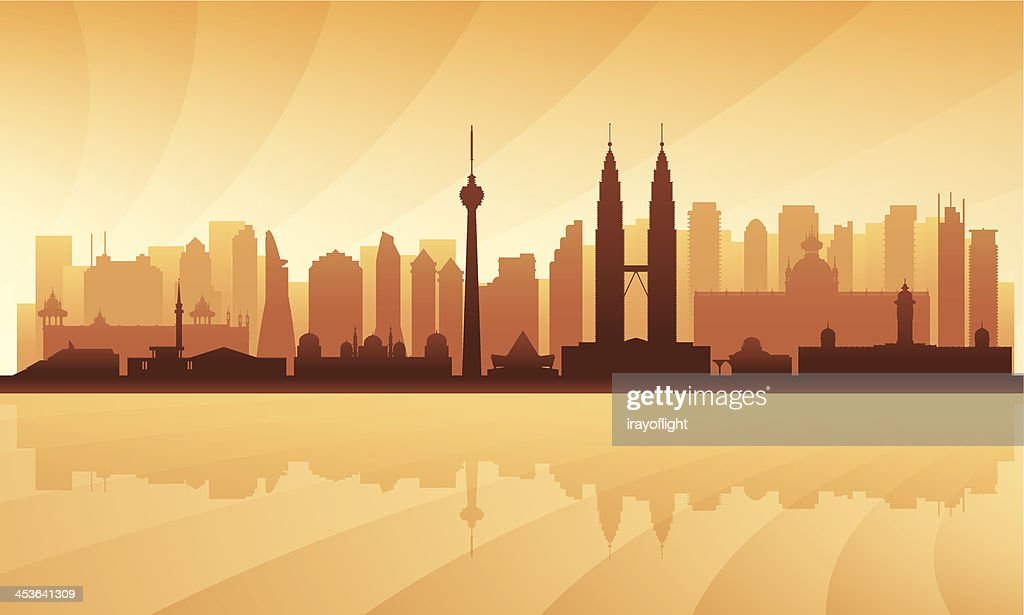 Kuala Lumpur detailed city skyline