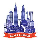 Kuala Lumpur skyline. Vector illustration
