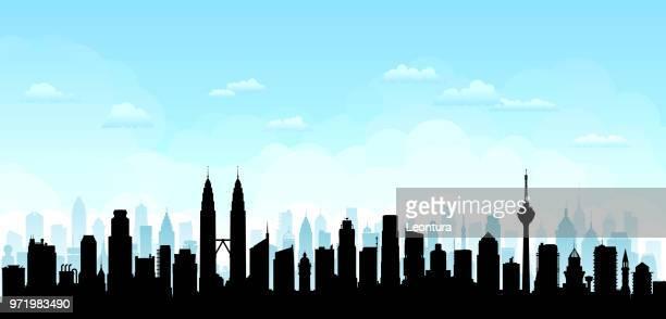 ilustrações, clipart, desenhos animados e ícones de kuala lumpur (todos os edifícios estão completos e móveis) - malásia
