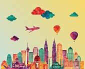 Kuala Lumpur. Vector illustration