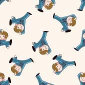Kung fu , cartoon sticker icon