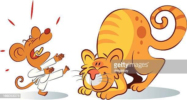 Kungu fu mouse and cat