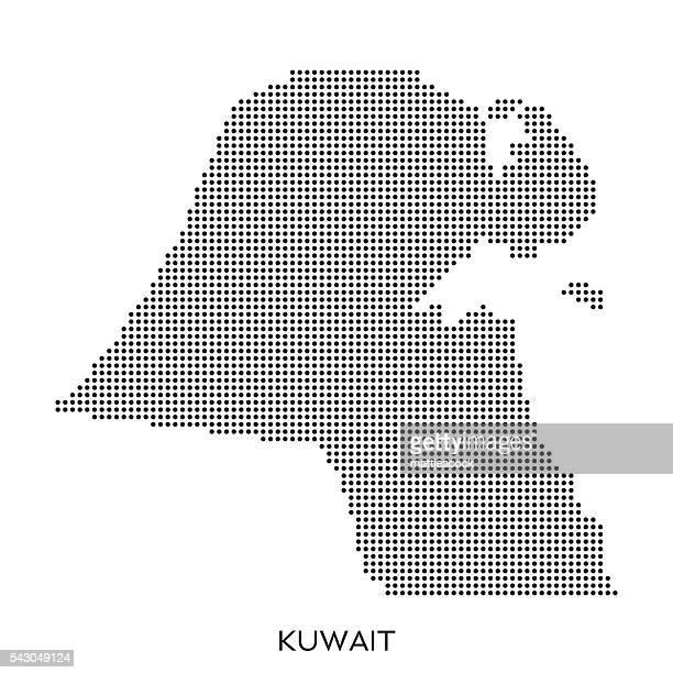 kuwait dot halftone pattern map - kuwait stock illustrations, clip art, cartoons, & icons