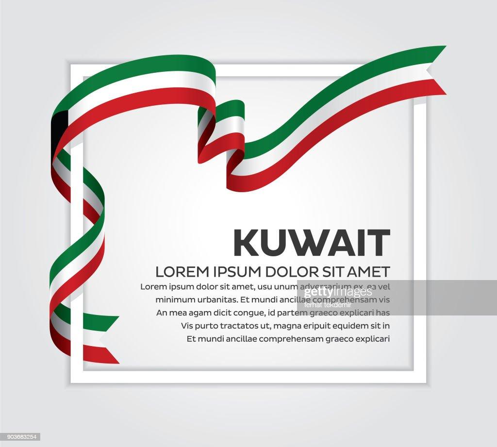 Kuwait flag background