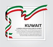 Kuwait flag background