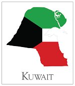 Kuwait flag map