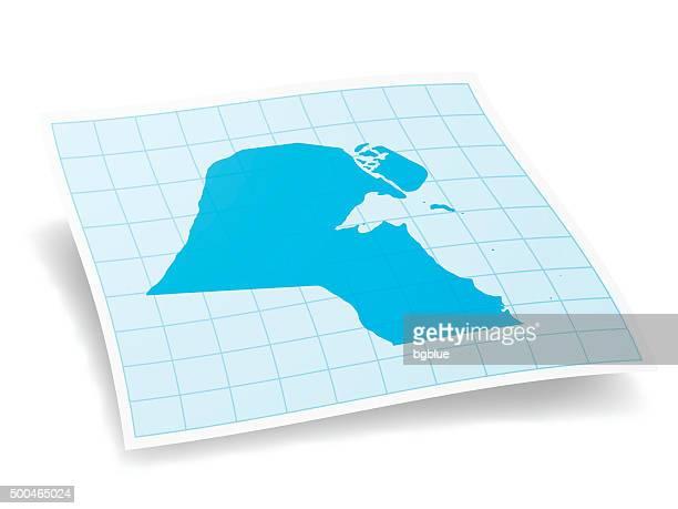 kuwait map isolated on white background - kuwait stock illustrations, clip art, cartoons, & icons