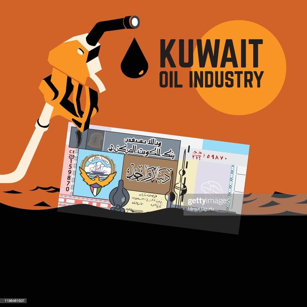 Kuwait oil industry : stock illustration