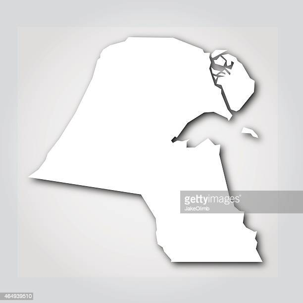 kuwait silhouette white - kuwait stock illustrations, clip art, cartoons, & icons
